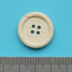 Blanke houten knoop - 23mm