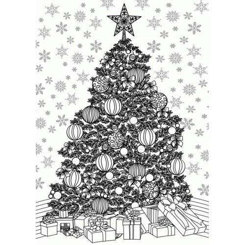 8 Kerstboom kleurplaten