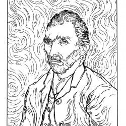 7 Van Gogh kleurplaten - A3