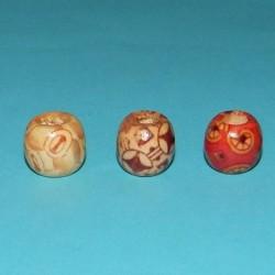 5 Houten ojime beads