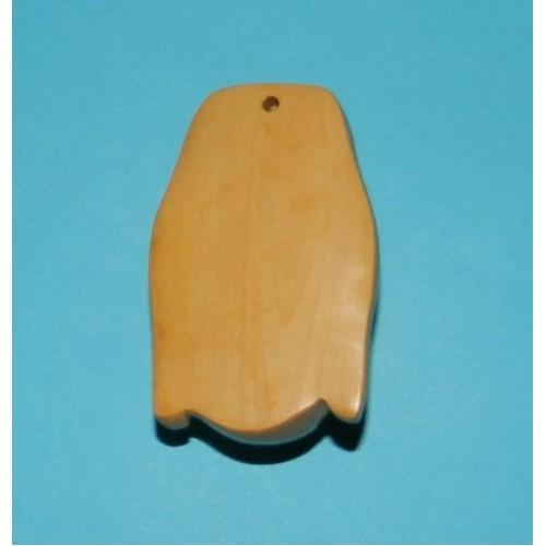 Kwan-jin netsuke, licht buxushout