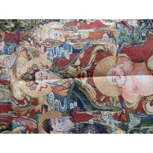Boeddha vormen thangka, brokaat, 90x60cm