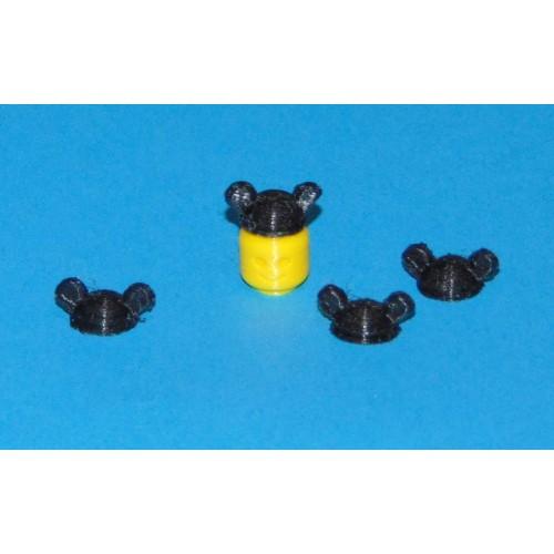 4 Muis oren voor Lego® minifiguren