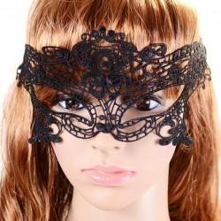 Sexy zwart kanten masker, model A