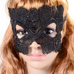 Sexy zwart kanten masker, model C