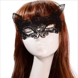 Sexy zwart kanten poes masker