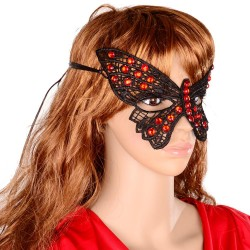 Sexy zwart vlinder masker, model B