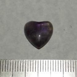 Amethist hart cabochon CE - 12x12mm