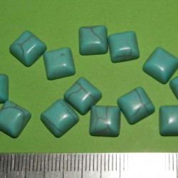 Turquoise Howliet cabochon CI - 8x8mm