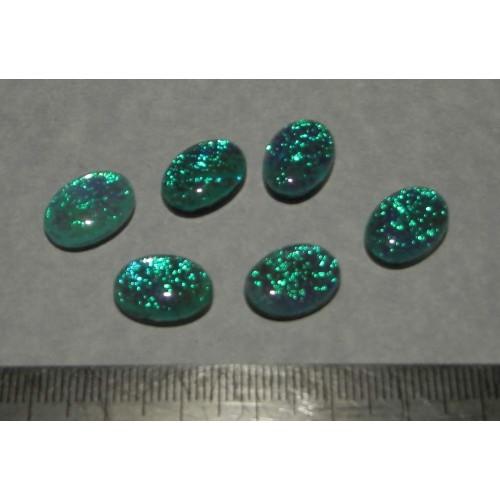 Blauwe Opaal doublet - 14x10mm