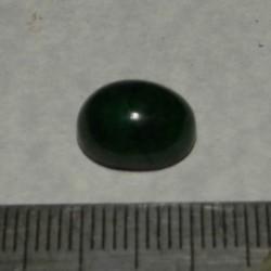 Smaragd cabochon CAT - 10,7x8,6mm