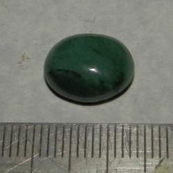 Smaragd cabochon CAV - 13x10mm