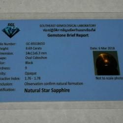 Ster Saffier R - Thailand - 14x11mm - met certificaat