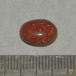 Bruine Goudsteen - steen CB - 12x9mm