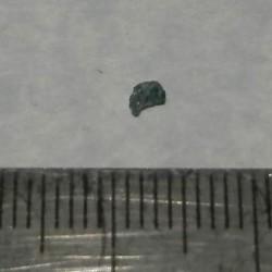 Blauwgroene Diamant - Zuid-Afrika - geboord - steen GBGE