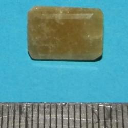Gele Beril GC - emerald geslepen - 13x9mm - met certificaat