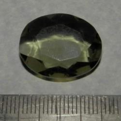 Groene Amethist - steen AF - ovaal geslepen - 22x17mm