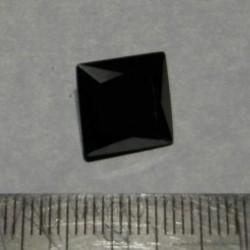 Zwarte Moissaniet T - prinses geslepen - 11x10,7mm