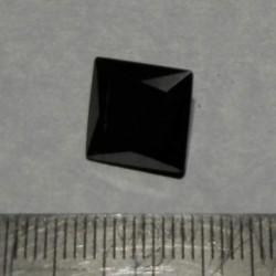 Zwarte Moissaniet - steen W - prinses geslepen - 10x10mm