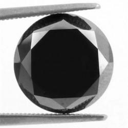Zwarte Moissaniet - steen E - rond geslepen - 7,85mm