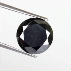 Zwarte Moissaniet - steen X - rond geslepen - 9,95mm