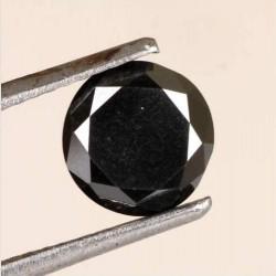 Zwarte Moissaniet - steen V - rond geslepen - 7,5mm