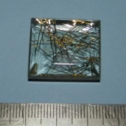 Rutielkwarts GD - emerald gesl. - 24x21mm
