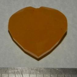 Gele Saffier GBW - hartvormig geslepen - 44x42mm