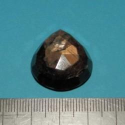 Goudbruine Saffier - steen E - peer geslepen - 23x19,5mm