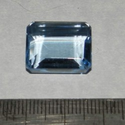 Blauwe Topaas GGN - emerald geslepen - 18x14,5mm