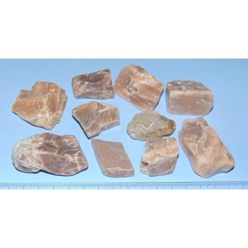 10 Stuks roze Maansteen - China - 232,7 gram