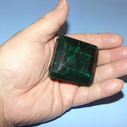 Smaragd GLV - emerald geslepen - 49x47mm - met certificaat