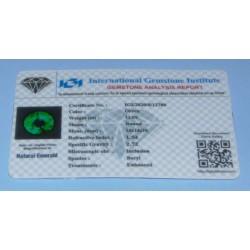 Smaragd GLX - rond geslepen - 14mm - met certificaat