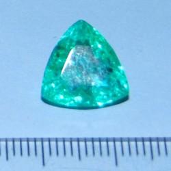 Smaragd GLY - trillion geslepen - 12x12mm - met certificaat