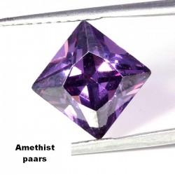 Amethist paarse Zirconia - 10mm - prinses geslepen