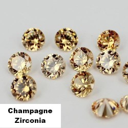 Champagne Zirconia - 2mm - briljant geslepen