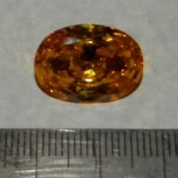 Gele Zirconia - ovaal geslepen - 18x12mm