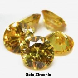 Gele Zirconia - 2mm - briljant geslepen