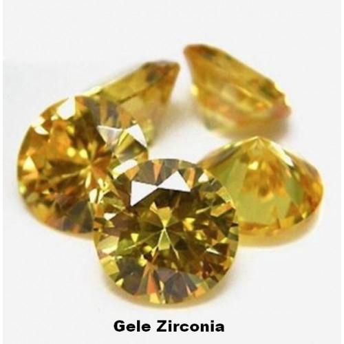 Gele Zirconia - 3mm - briljant geslepen - 3 stuks