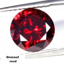 Granaat rode Zirconia - 10mm - briljant geslepen