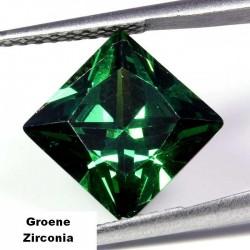 Groene Zirconia - 10mm - prinses geslepen