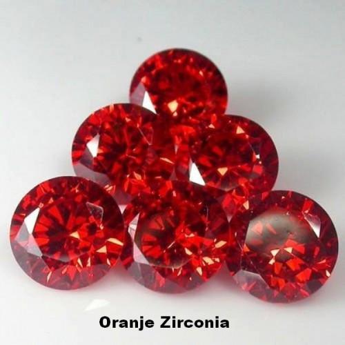 Oranje Zirconia - 2mm - briljant geslepen - 3 stuks