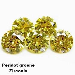 Peridot groene zirconia - 2mm - briljant geslepen