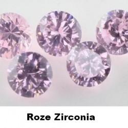 Roze Zirconia - 2mm - briljant geslepen