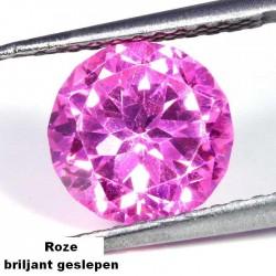Roze Zirconia - 10mm - briljant geslepen