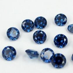 Saffier blauwe Zirconia - 10mm - briljant geslepen
