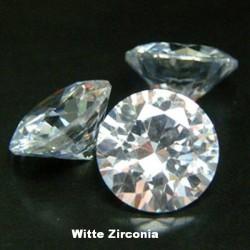 Witte Zirconia - 2mm - briljant geslepen