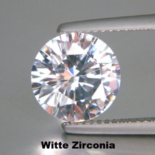 Witte Zirconia - 10mm - briljant geslepen - 3 stuks