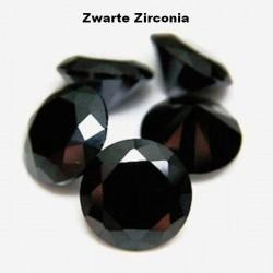 Zwarte Zirconia - 2mm - rond geslepen