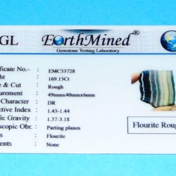 Regenboog Fluoriet ACA - Brazilië - 169,15 kt - certificaat